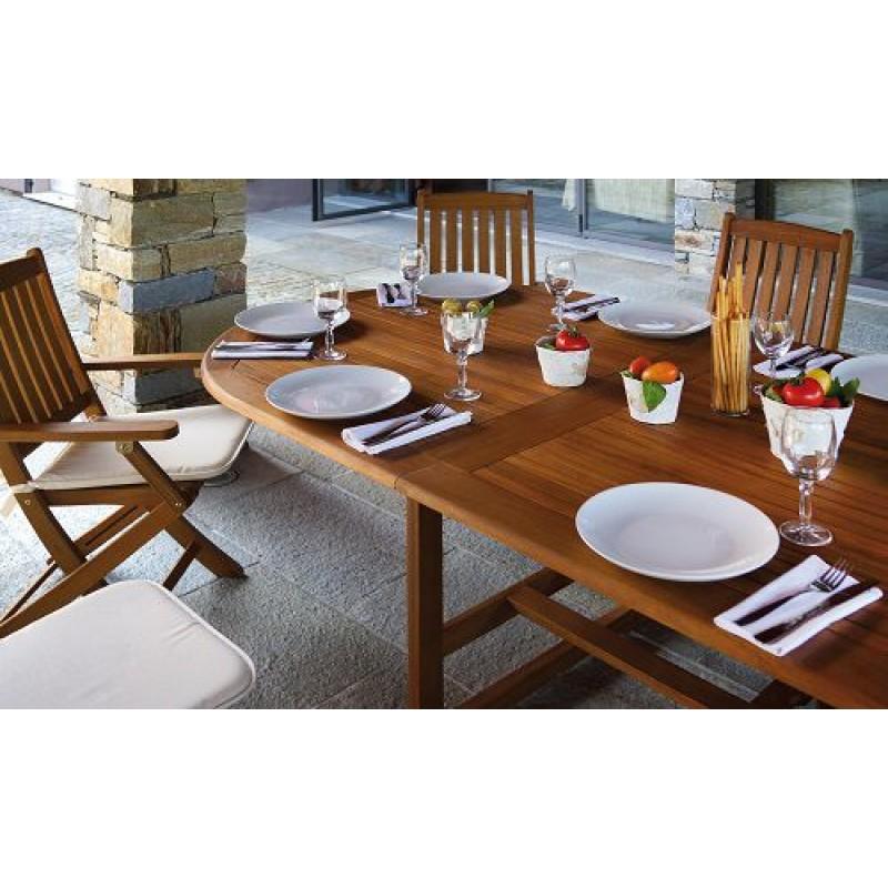 Tavolo giardino in legno ovale allungabile malaga san marco - Tavolo ovale allungabile ...