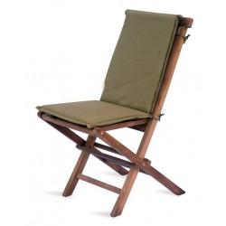 Sedia pieghevole in legno teak Salina, abbinabile a cuscino e schienale