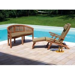 Panca da giardino in legno teak Linosa - 150 cm
