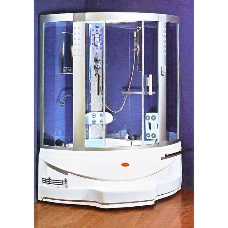 Vasca da bagno idromassaggio con doccia 130x130x218 cm san marco - Brico vasche da bagno ...
