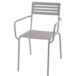 Sedia bar in ferro grigio cenere Norcia - con trattamento antiruggine