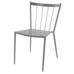 Sedia bar in ferro color grigio cenere Todi - con trattamento antiruggine