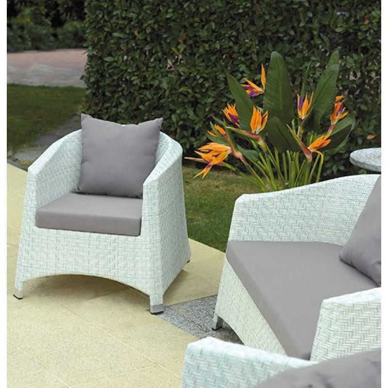 Set giardino in vimini bianco marmo san marco - Divanetti da esterno ikea ...