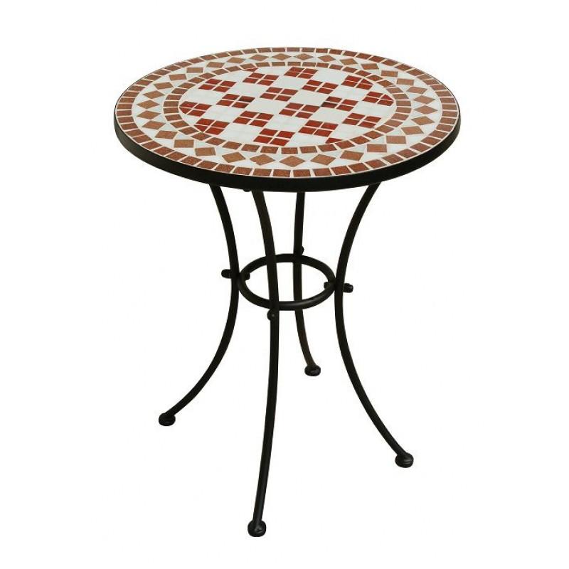Tavolo da giardino ferro battuto rotondo mosaico san marco - Tavoli da giardino in ferro battuto ...