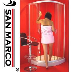 Box doccia 90x90 semicircolare con vetri a scelta