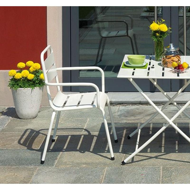 Sedie Colorate Da Giardino.Sedia Da Giardino In Ferro Impilabile Monopoli San Marco