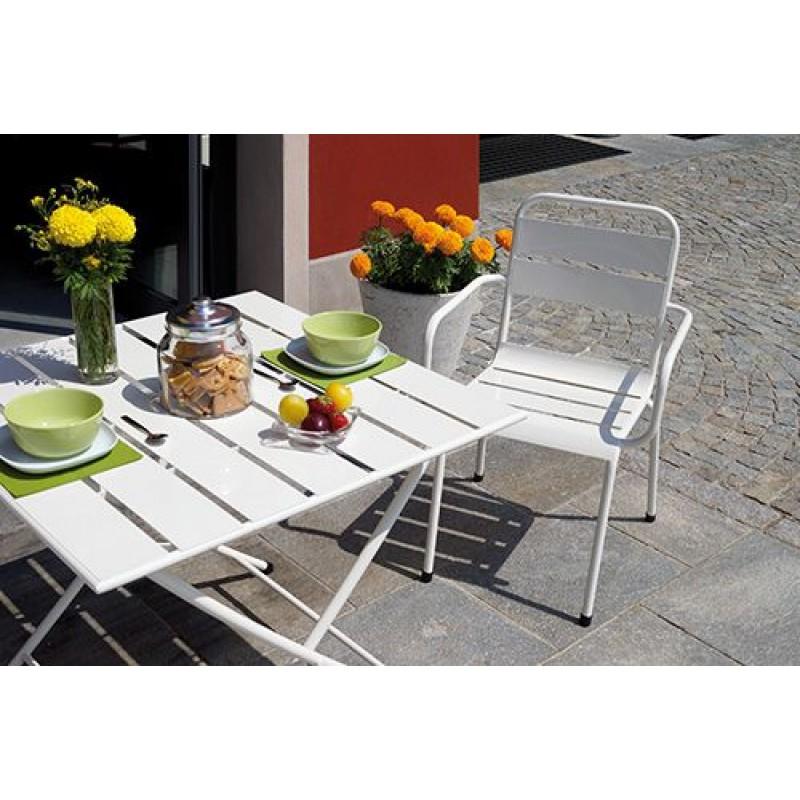 Tavolo Con Sedie Colorate.Sedia Da Giardino In Ferro Impilabile Monopoli San Marco