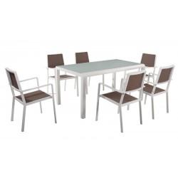 Dining set giardino alluminio e textilene