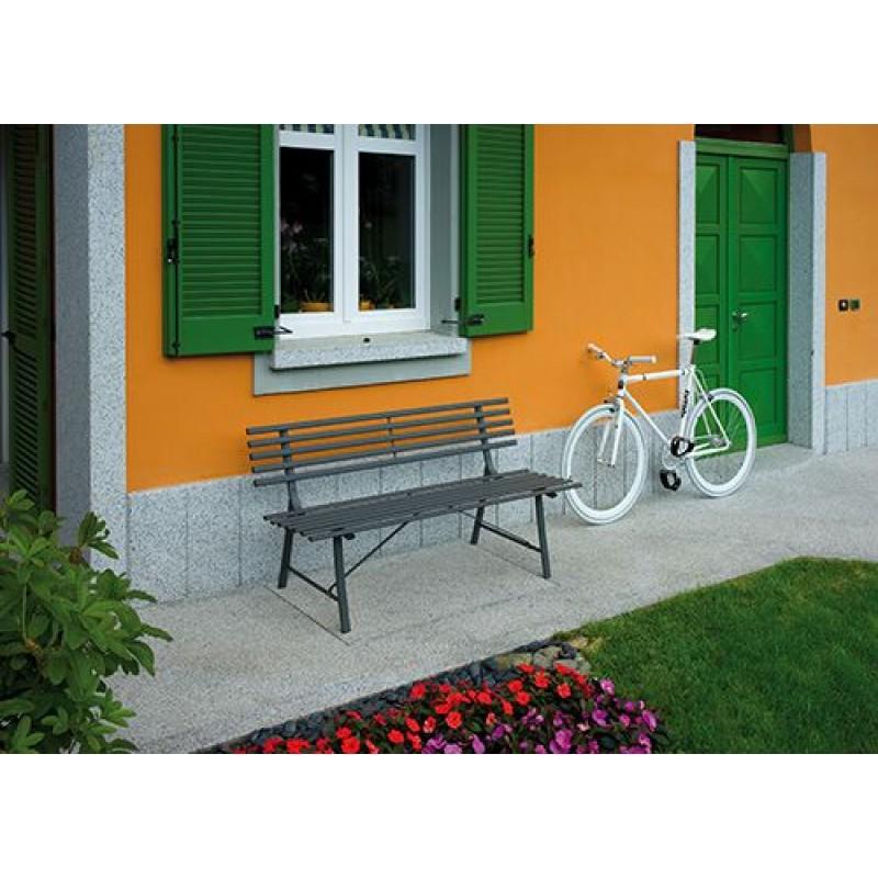Panca da giardino in ferro colorato gallipoli san marco for Panca da giardino contenitore