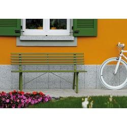 Panca da giardino in ferro colorato Gallipoli - 3 posti, 150 cm