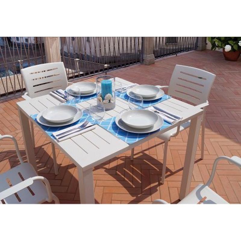 Tavolo da giardino in alluminio san vincenzo san marco for Arredo da giardino in alluminio