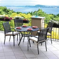 Sedia da giardino in alluminio grigio Gaeta - impilabile