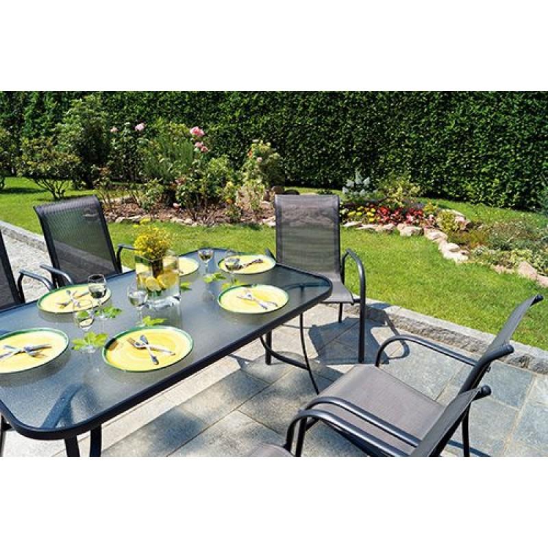 Tavolo da giardino alluminio antracite sorrento san marco for Giardino rettangolare