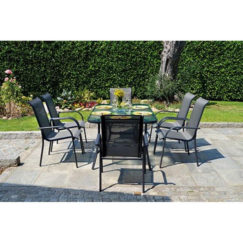 Tavolo da giardino alluminio antracite sorrento san marco for Tavolo in alluminio