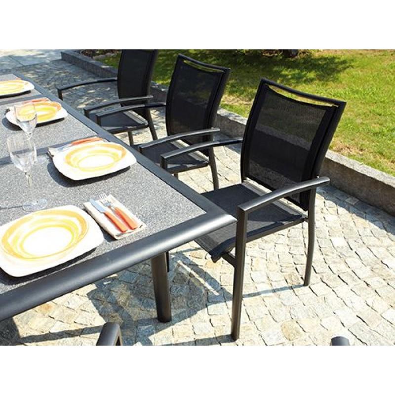 Tavolo Da Giardino Alluminio Allungabile.Tavolo Da Giardino In Alluminio Nero Opaco Circeo San Marco