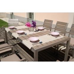 Sedia da giardino alluminio e resin wood Vernazza - impilabile - con cuscino
