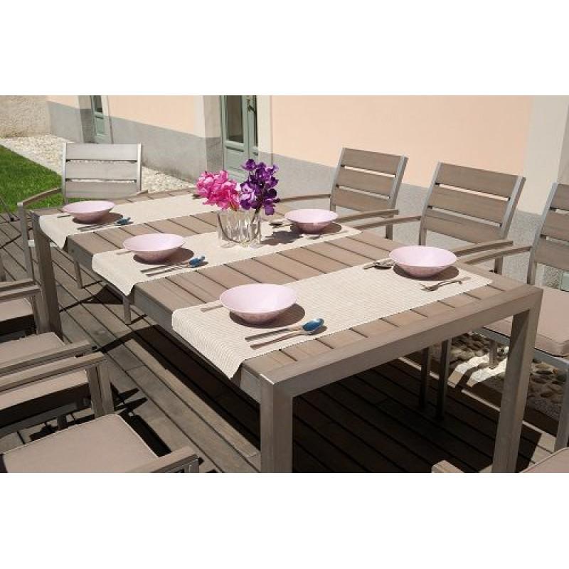 Sedia da giardino alluminio resin wood vernazza san marco for Tavolo con sedie da giardino offerte