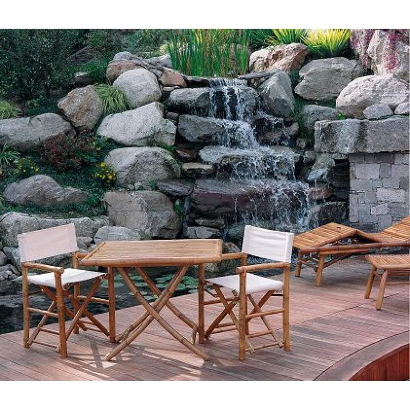 Tavolo Da Giardino 90x90.Tavolo Da Giardino In Bambu00f9 Quadrato 90x90 Cm