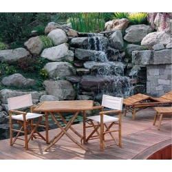 2 Sedie da giardino in bambù regista