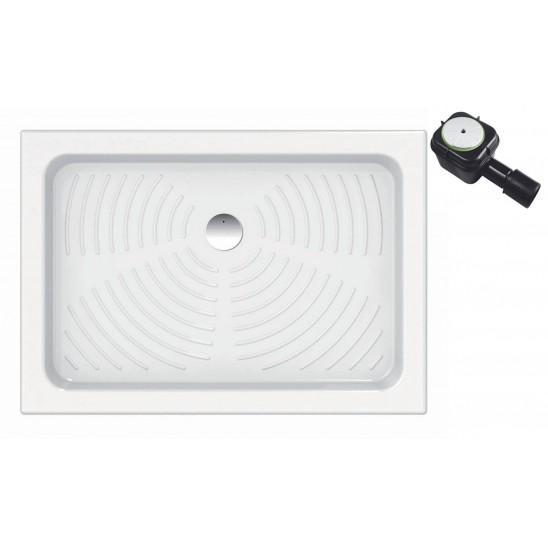 Piatto doccia in ceramica per cabina doccia 80x100 cm