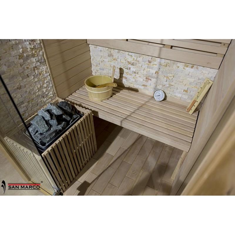 Cabina sauna finlandese in legno per tre persone  San Marco