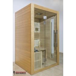 Cabina sauna finlandese in legno per due persone