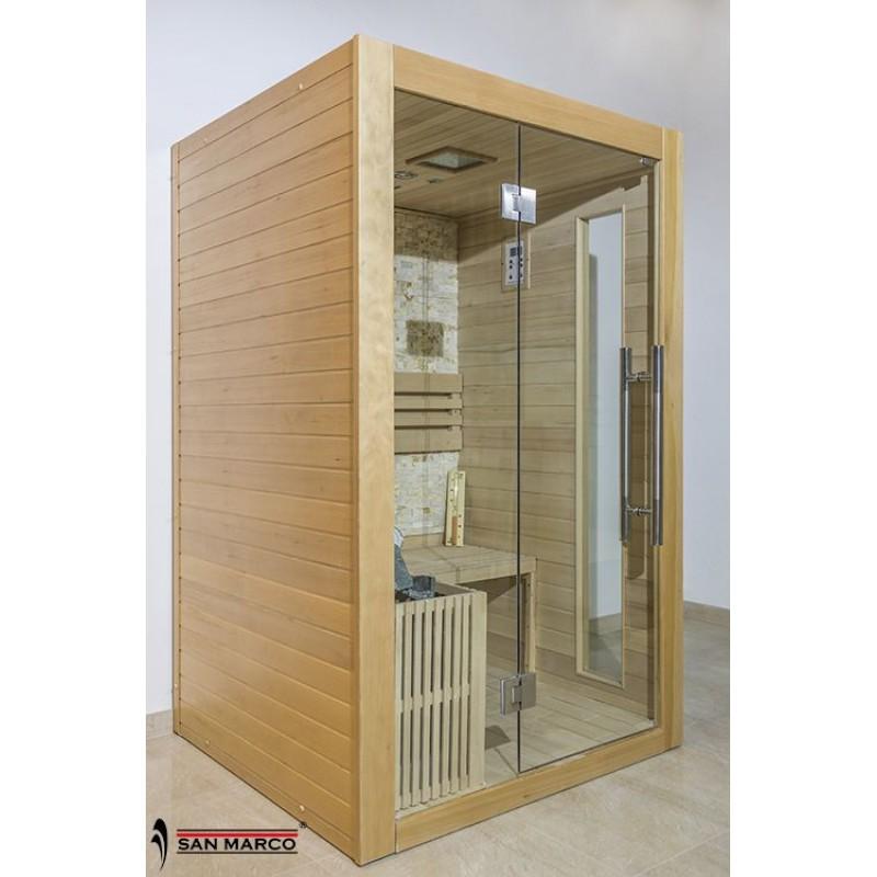 Cabina sauna finlandese in legno per due persone San Marco