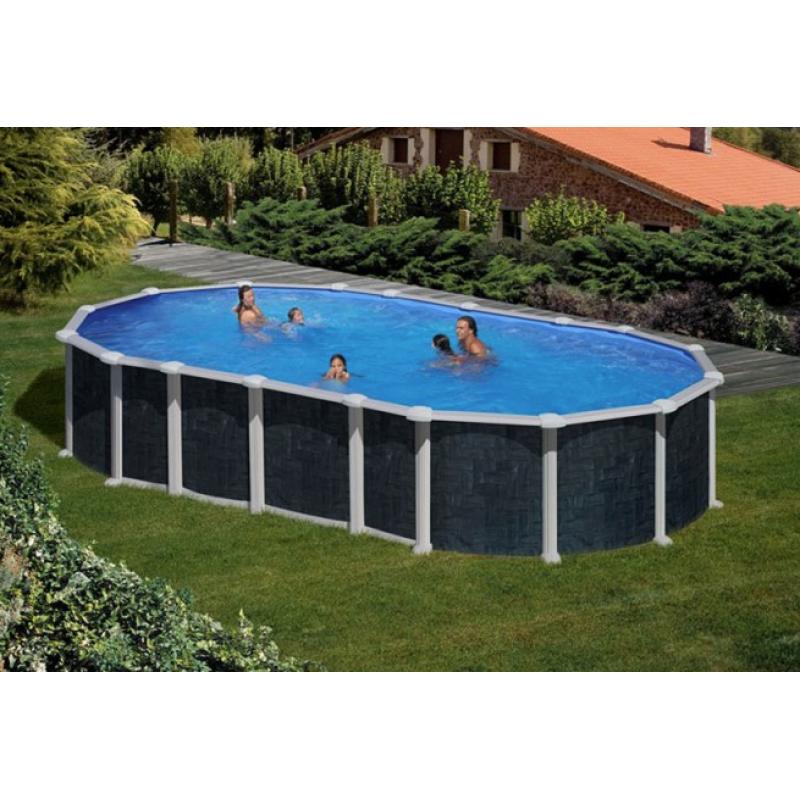 Piscina fuori terra gre creta ovale 610x375 cm san marco for Piscina a terra