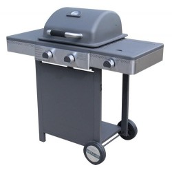 Barbecue a gas Sunny 2+1, con bruciatore laterale