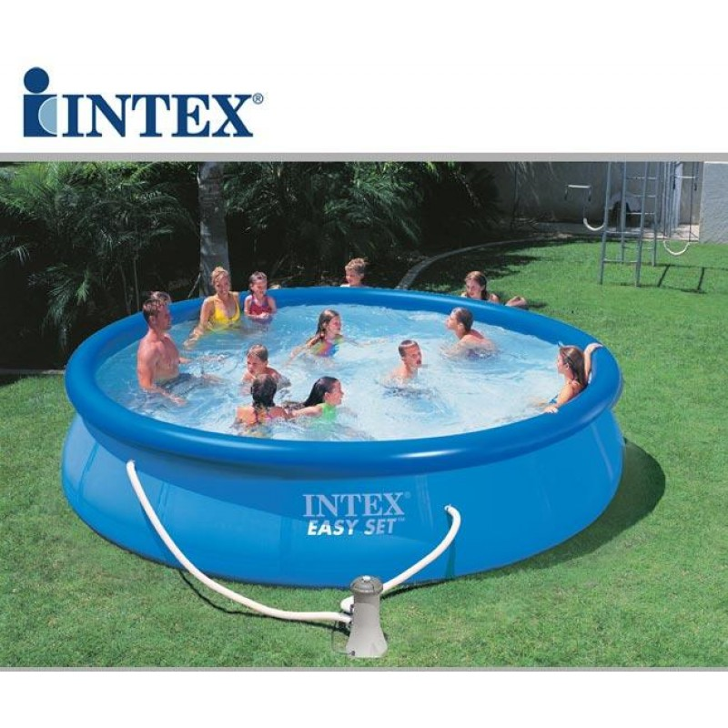 Piscina intex easy set rotonda 457x107 cm san marco for Piscinas rectangulares intex