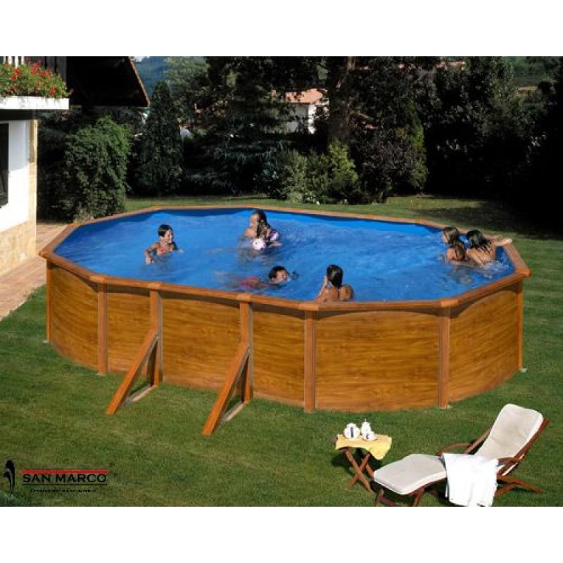 Piscina fuori terra gre sicilia ovale 500x300 cm san marco for Piscina fuori terra ovale