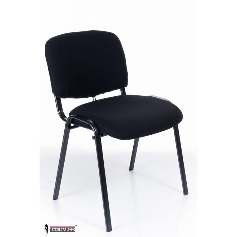 Sedie sala da attesa o conferenza black chair san marco for Sedie attesa ufficio
