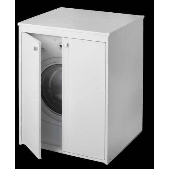 Mobile lavatoio in resina e pvc con ante san marco for Coprilavatrice da interno