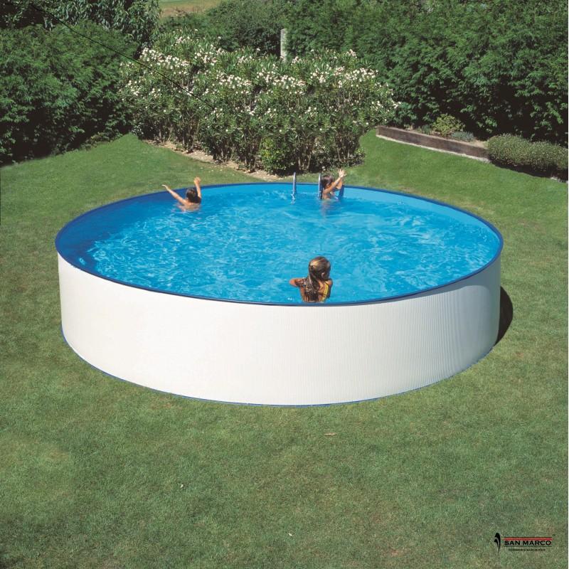 Piscina fuori terra gre ibiza rotonda 450x90 cm san marco - Accessori piscina fuori terra ...