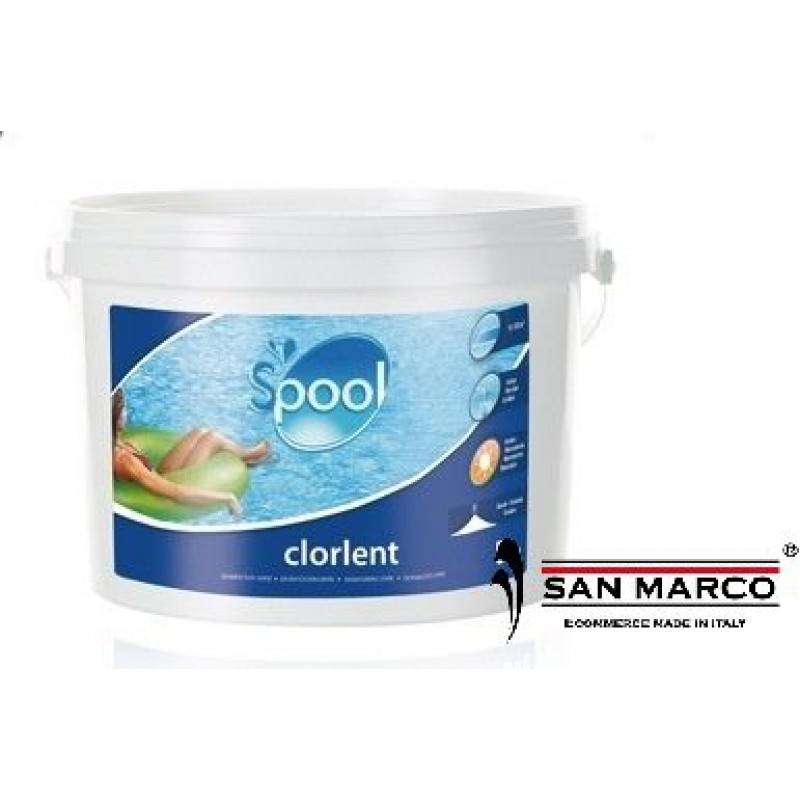 Cloro per piscine granulare gre rilascio lento san marco for Cloro per piscine