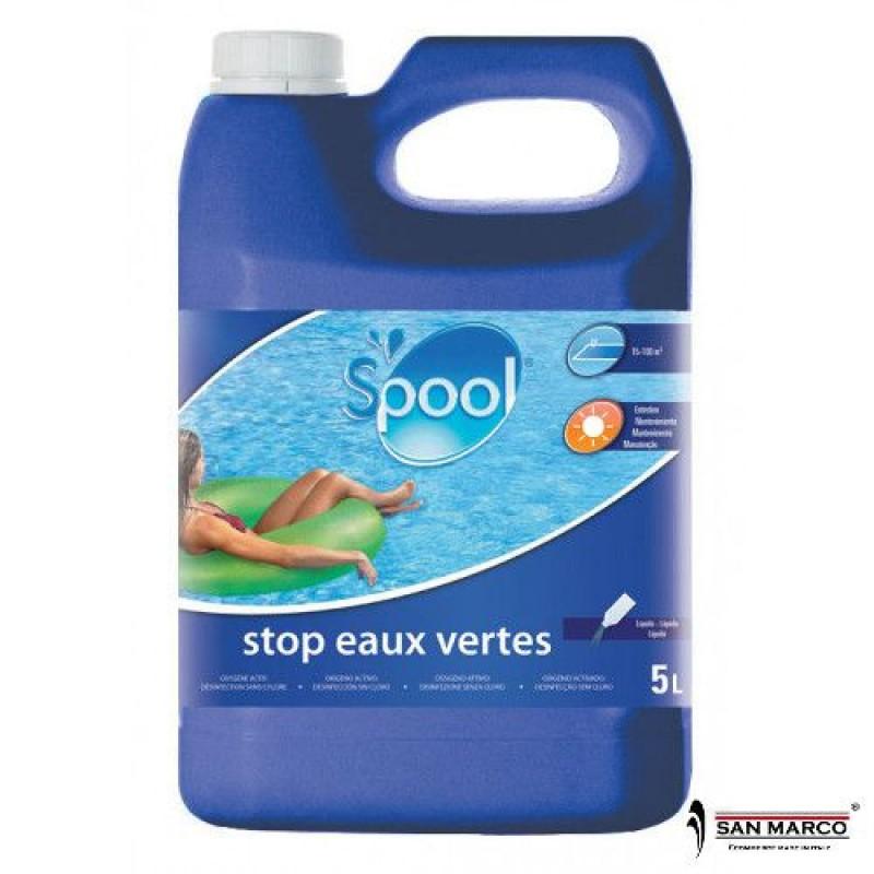 Antialghe liquido gre per piscine senza cloro san marco for Cloro liquido per piscine