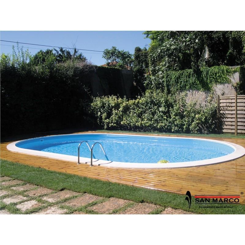 Piscina interrata gre madagascar ovale 500x300 cm san marco - Piscina interrata ...