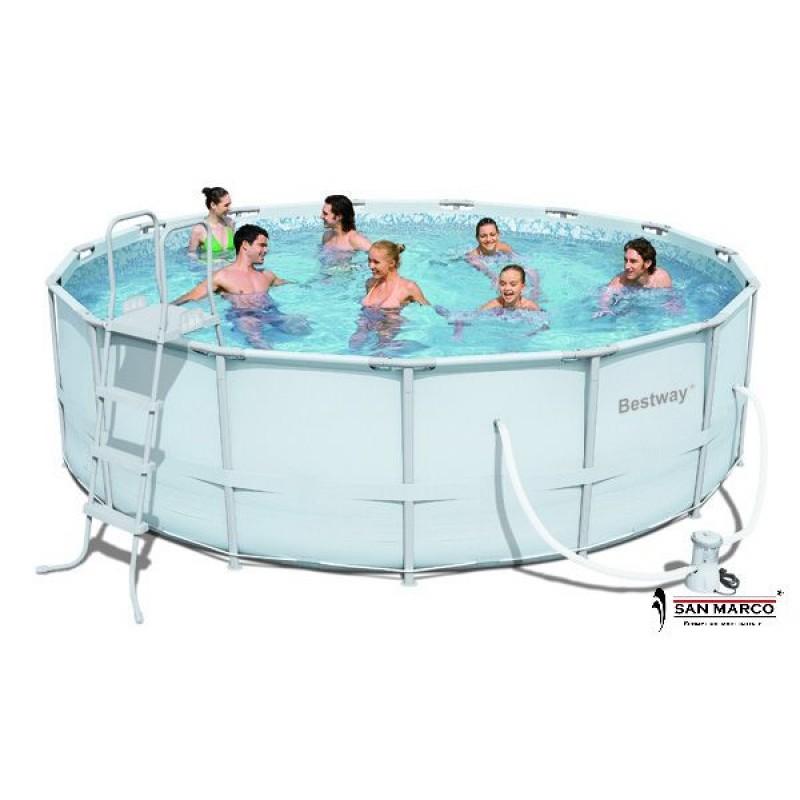 Piscina fuori terra bestway frame rotonda 488 cm san marco for Accessori piscine fuori terra bestway
