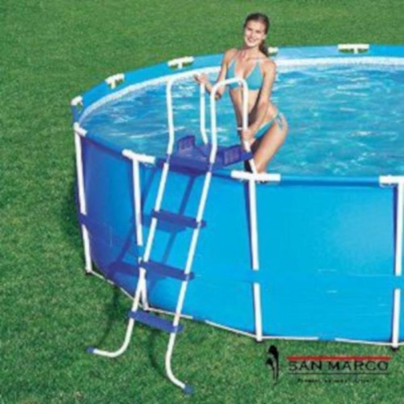 Piscina fuori terra bestway frame rotonda 488 cm san marco for Escalera piscina bricodepot