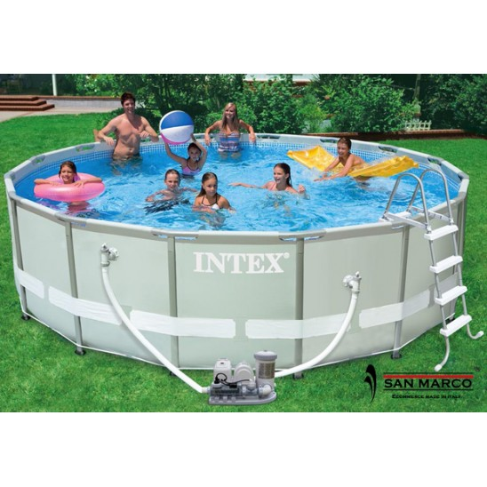 Piscina intex ultra frame 732x366x132 cm 28362 san marco - Intex piscine fuori terra ...