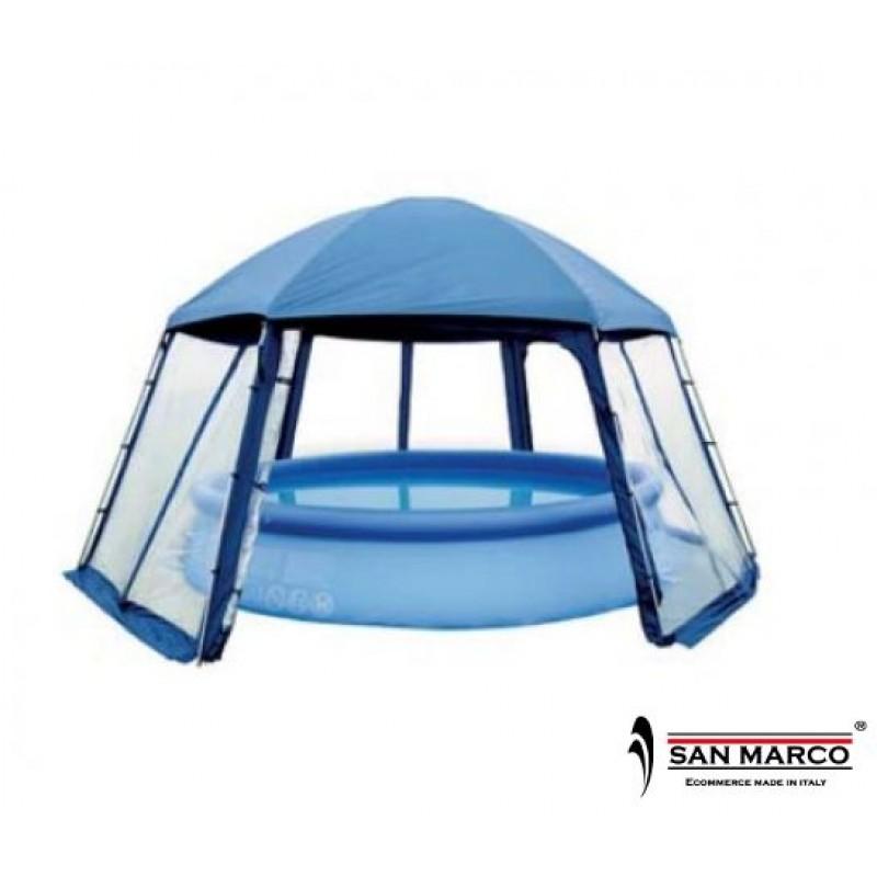 Coperture per piscine gazebo di protezione gre san marco for Coperture piscine fuori terra bestway