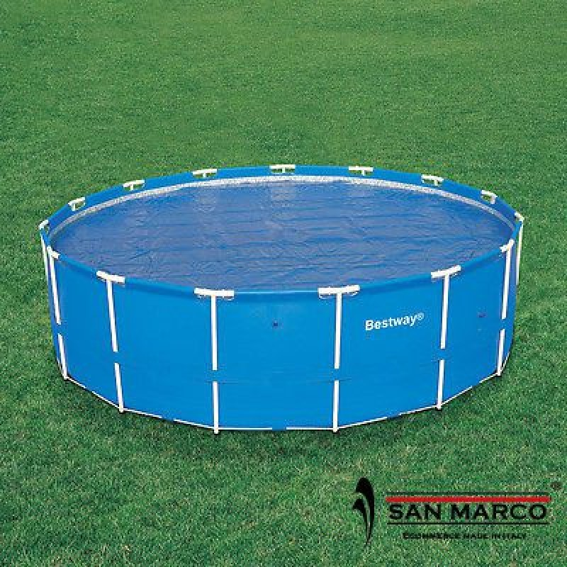 Telo isotermico bestway piscina rotonda 366 cm san marco for Teli per piscine