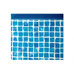 Liner piscina Gre blu mosaicato rotondo 460x132 cm
