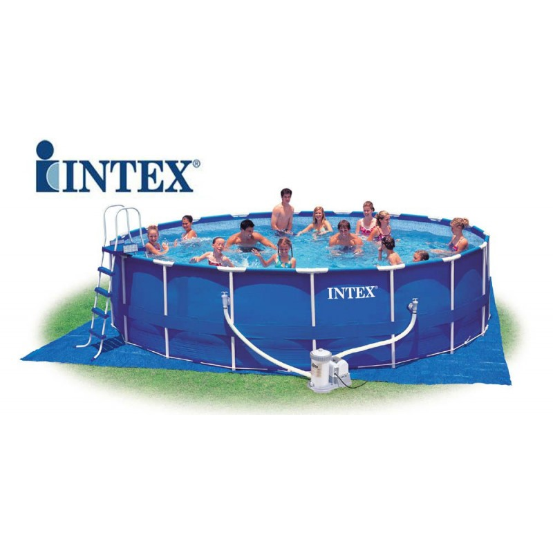 Piscina intex metal frame rotonda 549x122 cm san marco - Accessori piscine intex ...