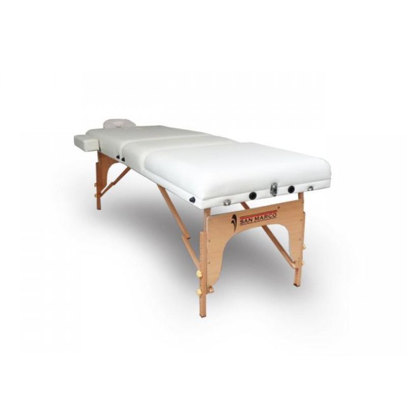 Copri Lettino Massaggio Spugna.Lettino Massaggio Bianco In Legno 3 Zone 10cm San Marco