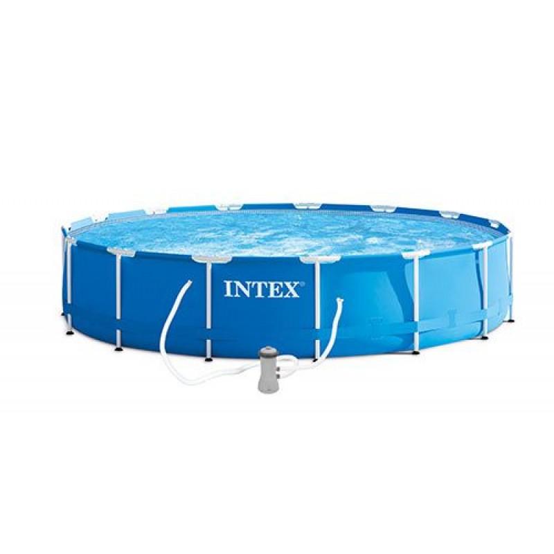 Piscina fuori terra intex metal frame 457x91 cm san marco for Accessori piscine intex fuori terra