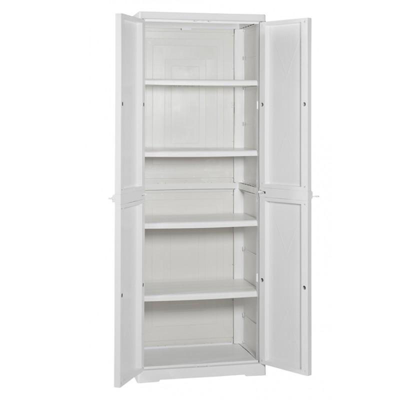 armadio per esterno alto con ripiani in resina san marco