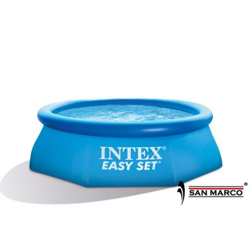 piscina fuori terra rotonda easy set intex 244x76 cm san marco. Black Bedroom Furniture Sets. Home Design Ideas