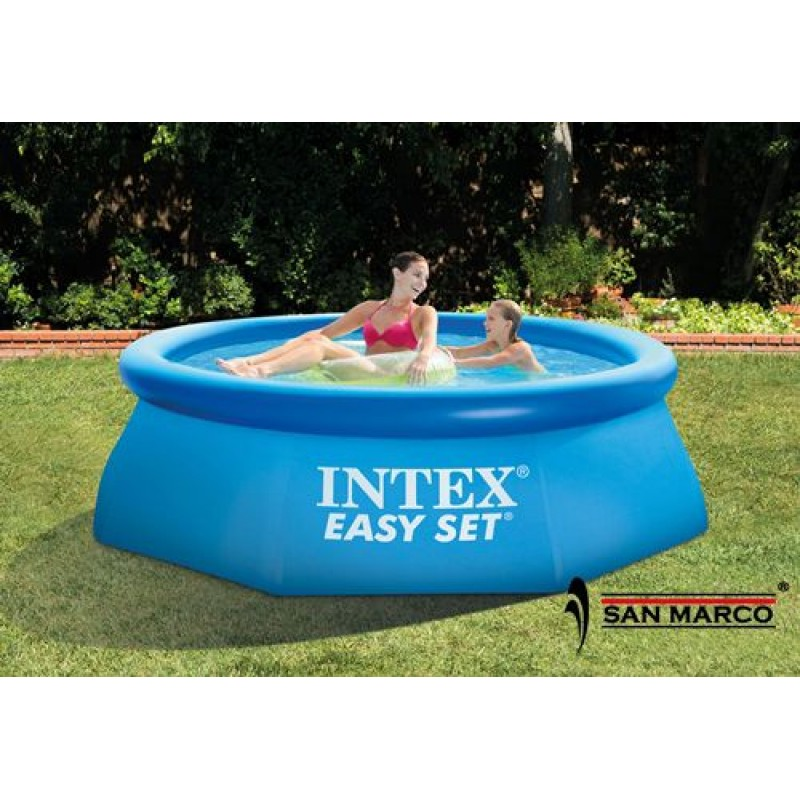 Piscina fuori terra rotonda easy set intex 244x76 cm san for Piscina intex rotonda
