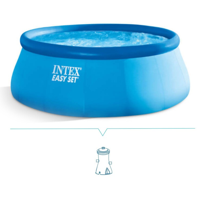 piscina fuori terra intex easy set 457x84 cm san marco. Black Bedroom Furniture Sets. Home Design Ideas